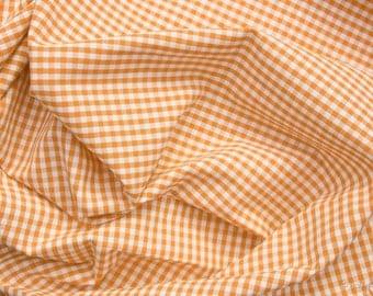 Vichy fabric orange-and white checkered 2.5 mm Eco-Tex standard 100