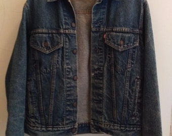 Vintage 80's Men's Levis denim jean jacket