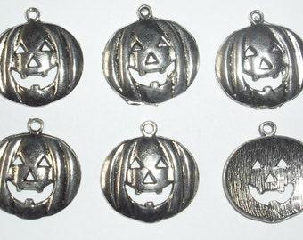 8 x Large Pumpkin Charms *26mm*Tibetan Silver*Halloween*et*