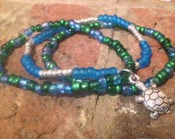 Stretch Bracelet Set, Charm Bracelet, Seed Bead Bracelet, Stack Bracelets