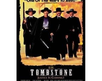 Tombstone Black 26x40 Movie Poster 1993 Wyatt Earp