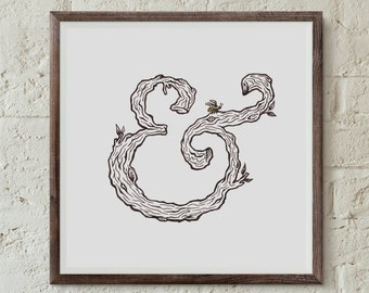 Ampersand - Fine Art Digital Giclee Print