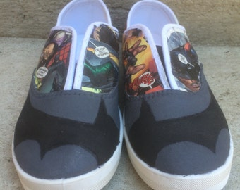Batman comic shoes