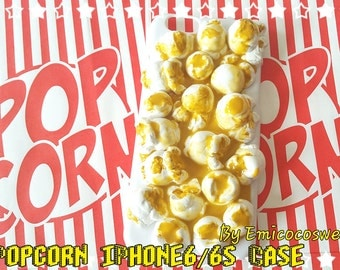 SALE 50% Kawaii popcorn iPhone6/6s case,Kawaii iPhone Case,Popcorn Kitsch phone case,Decoden Phone Case,Food phone cover,Cute Phone Case