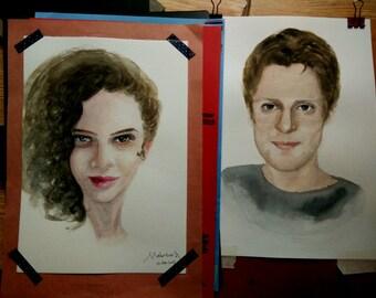Personalised Watercolour Portrait