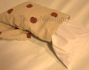 cushion with cherry stones
