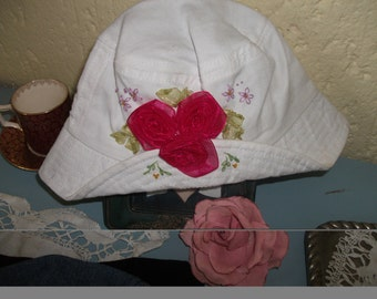 1-2yr White Denim hat