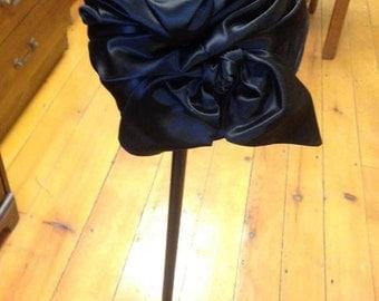 Tall Black Vintage Hat