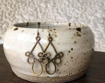 Antique Brass Bohemian Earrings, Bohemian Jewelry, Everyday Earrings, Simple Drop Earrings
