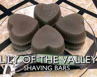 Lily of the Valley Shaving Bars | 2-pk | Pure Vegan Floral-Scented Shaving Soap Bar with Bentonite Clay and Grapeseed Oil
