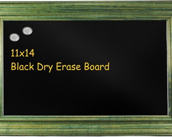 11x14 Black Magnetic Dry Erase Board - Traditional