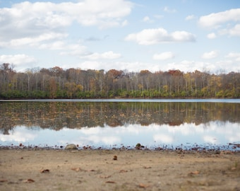 Fall Lake Photograph - landscape photography, landscape photo, water photo