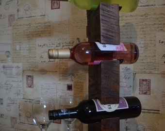 One of a kind, free standing wine rack.