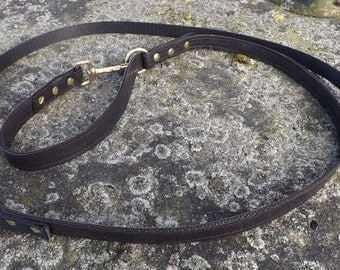 Cape cord made of leather and webbing