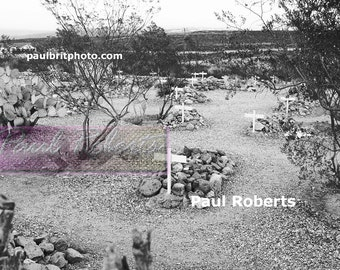 Boothill Graveyard, Tombstone Arizona (Infrared B&W) July 1, 2006