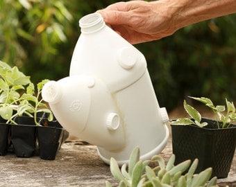 Watering Can, handmade, reclaimed plastic, garden watering can, HandmadeBikePods