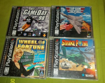 play station 1 games-lot of 4