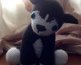 Denali the crochet husky puppy, crochet toy, crochet dog, amigurumi dog, stuffed animal, stuffed dog, stuffed puppy, gift for child