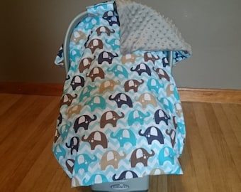 Elephant parade carseat canopy cover