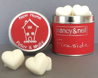 Housewarming Gift, New Home Gift, Personalised Scented Wax Melt Gift, 15 Luxury Handmade Heart Shaped Wax Melts, Gift for Her, Gift for Him