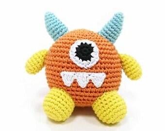 Chillin' Chihuahua Monster Crochet Toy - Orange