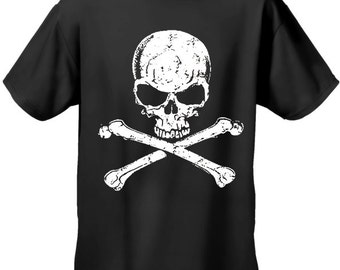 Skull Of Death Cross Bones Biker Mens Tshirt - #B332