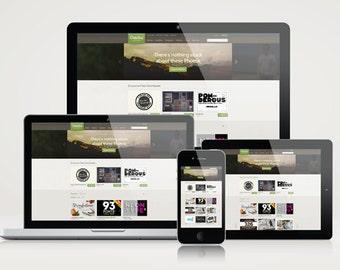 Responsive Website Mockup Template