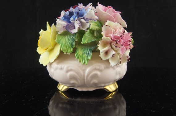 Vintage Radnor Bone China Flower Bouquet Roses And