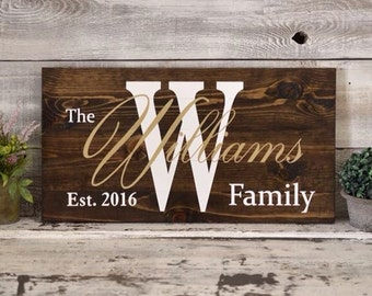 Custom Painted Wood Sign on Dark Stain 24x12 Inches