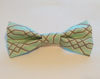 Aqua & Gray Gatsby-Inspired Bow Tie