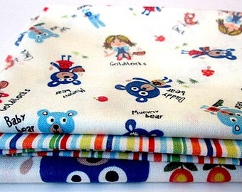Fat Quarter Bundle-Michael Miller's Goldilocks and the Three Bears