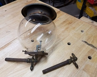Antique gas light, circa late 1800's to 1930's.