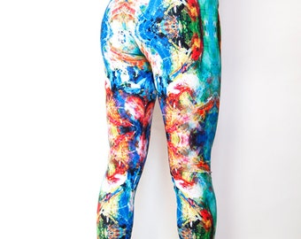 we are the medium - trippy leggings: steed (psychedelic festival burning man yoga pants) / PPLDOE