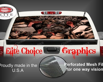 Snake Skull Pit Rear Window Graphic Tint Decal Sticker Truck SUV Van Car