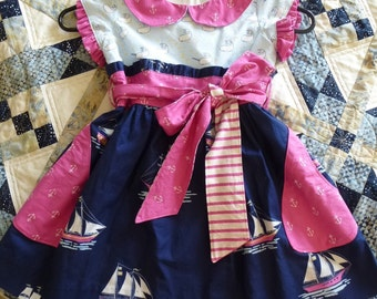 Girl's Size 4 Nautical Theme Dress