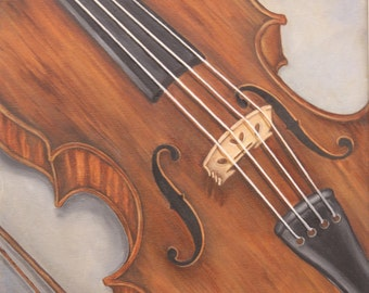 Violin card / print