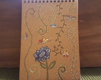 Decorated Spiral Notebook