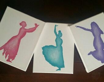 Praise Dancer Silhouette Triptych