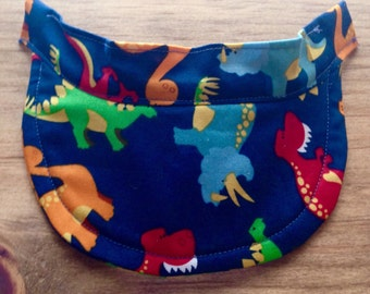 SMALL size Baby/Toddler Visor - Dinosaur pattern - for Cochlear Implants & Hearing Aids
