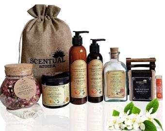 BEAUTY Gift Set, Organic Gift Set, Bath & Body Gift Set, ORGANIC Spa Gift Set, Organic Spa Set, Spa Set, Gifts for Her, Birthday Gift