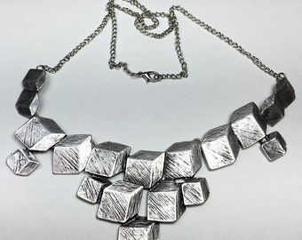 Handcrafted 3D Cubes Charm Necklace