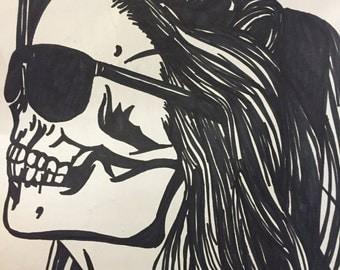 Skeleton Girl Drawing