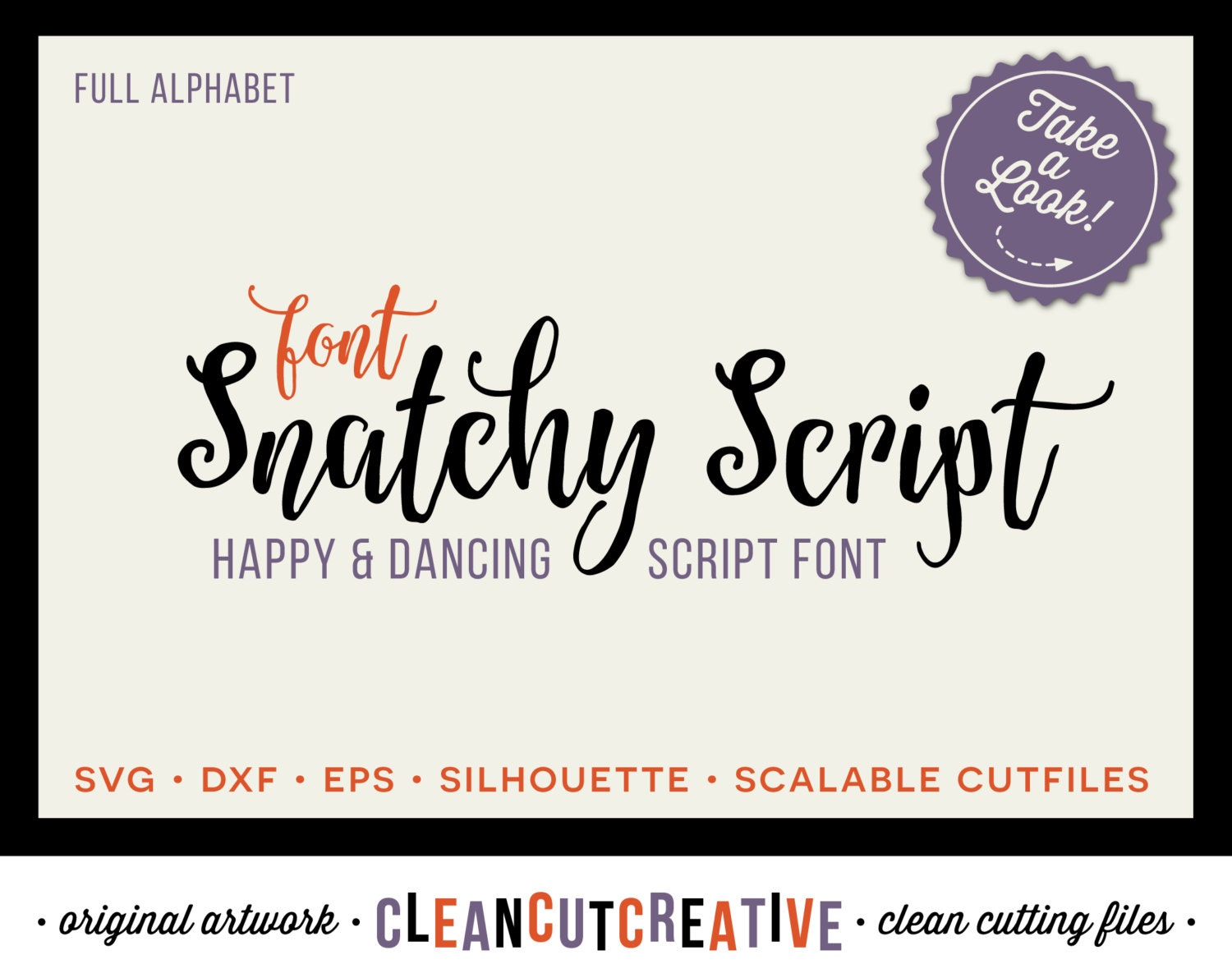 Download Full Alphabet SVG Fonts Cutfile Whimsy Modern Script cricut