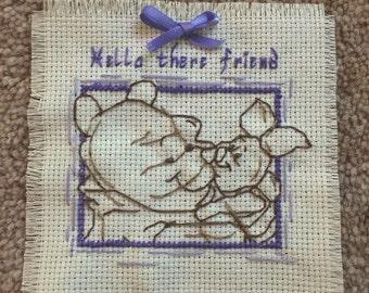Winnie The Pooh and Piglet Cross Stitch