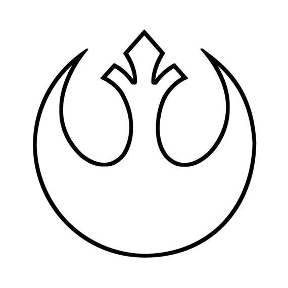 Star Wars Rebel Alliance Symbol Outline Decal for Car/Laptop