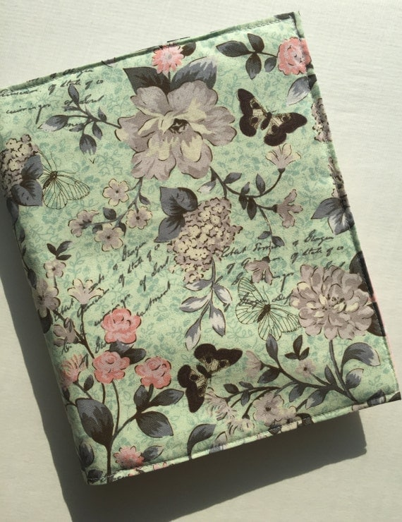 MAMBI Happy Planner classic sized planner cover - Mint and pink butterflies