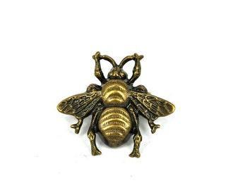 Bee brooch bee jewelry vintage bumblebee Victorian bee bumblebee gold bumblebee small brooch