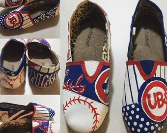 Chicago Cubs Painted Imitation Tom's