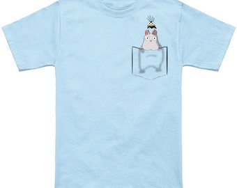 Boh Are My Arms Tired! - Spirited Away pocket t-shirt. Cute, adorable design. Available in short and long sleeve.