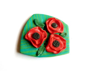button poppy fimo polymer clay